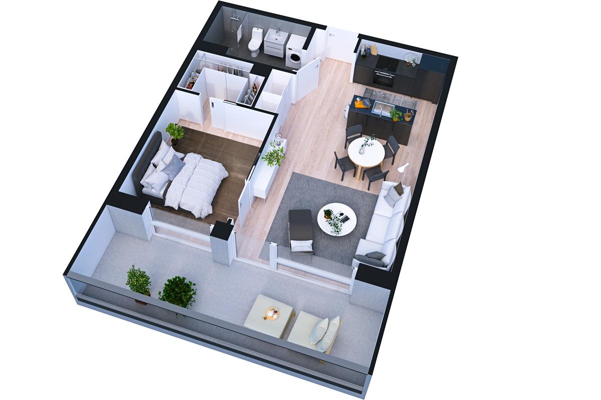 Asunto Oy Piispanportin Helmi, asunto A35 kuva 1   myytävät asunnot Espoo