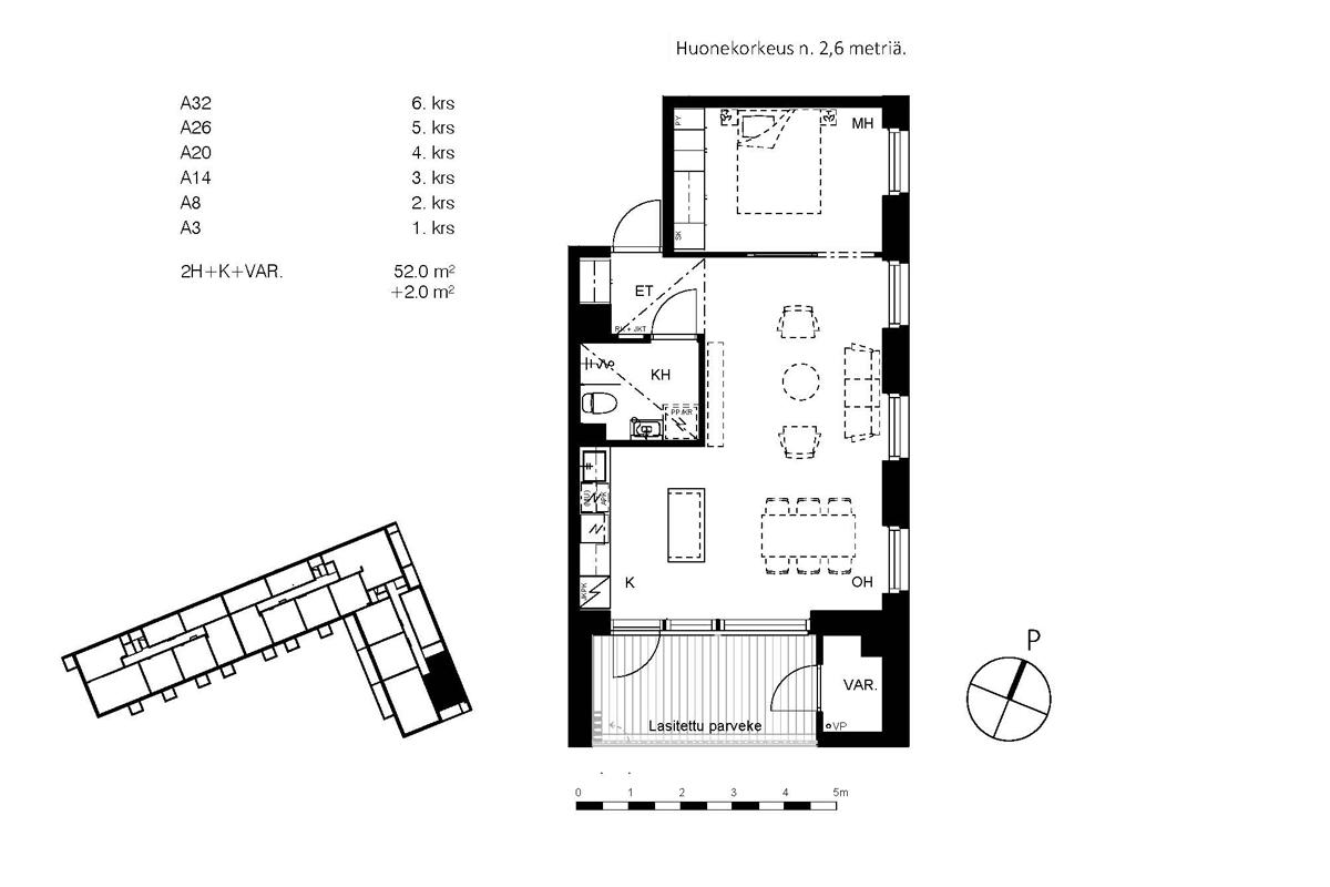 Asunto Oy Piispanportin Helmi, asunto A26 kuva 2 | myytävät asunnot Espoo