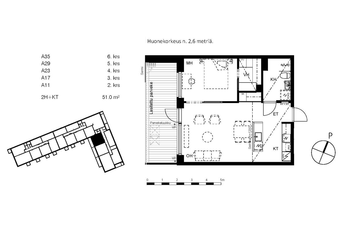 Asunto Oy Piispanportin Helmi, asunto A29 kuva 2   myytävät asunnot Espoo
