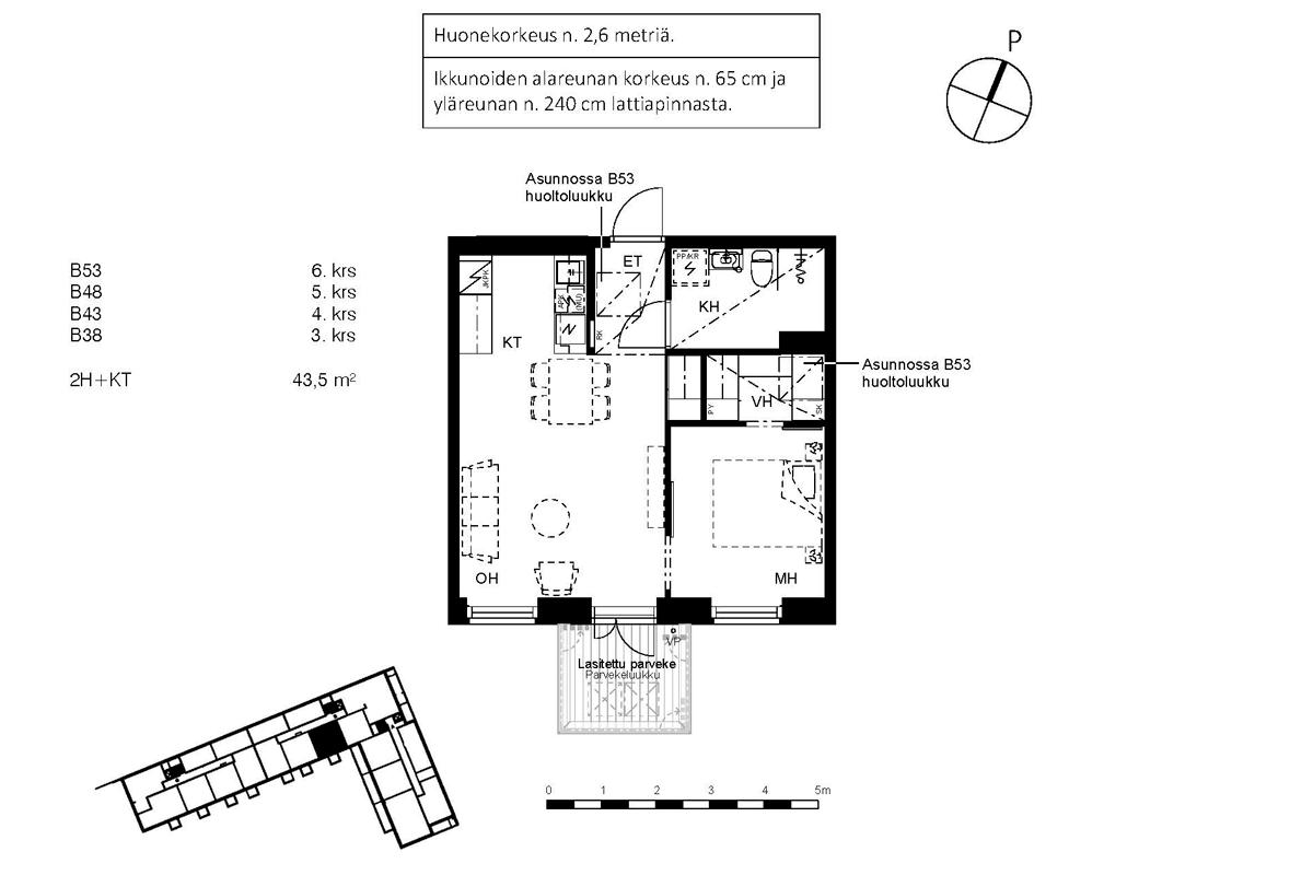 Asunto Oy Piispanportin Sointu, asunto B38 kuva 2 | myytävät asunnot Espoo
