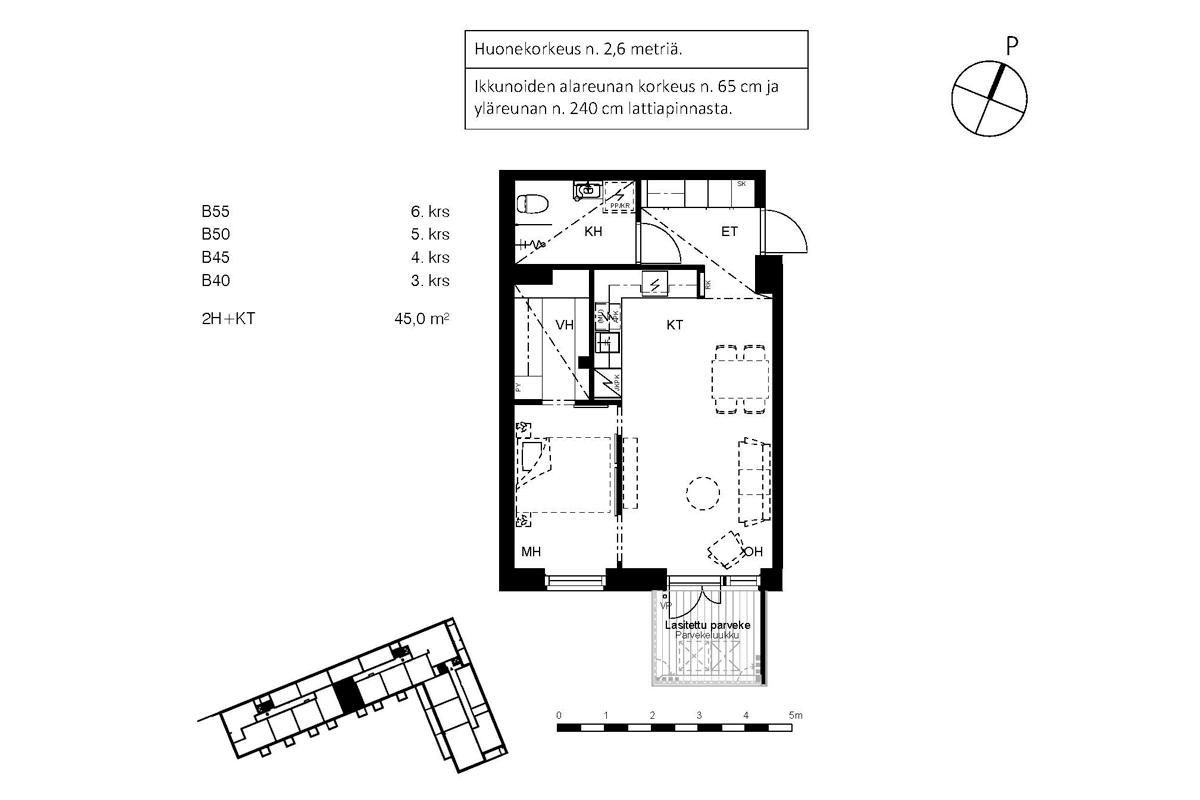 Asunto Oy Piispanportin Sointu, asunto B45 kuva 2 | myytävät asunnot Espoo