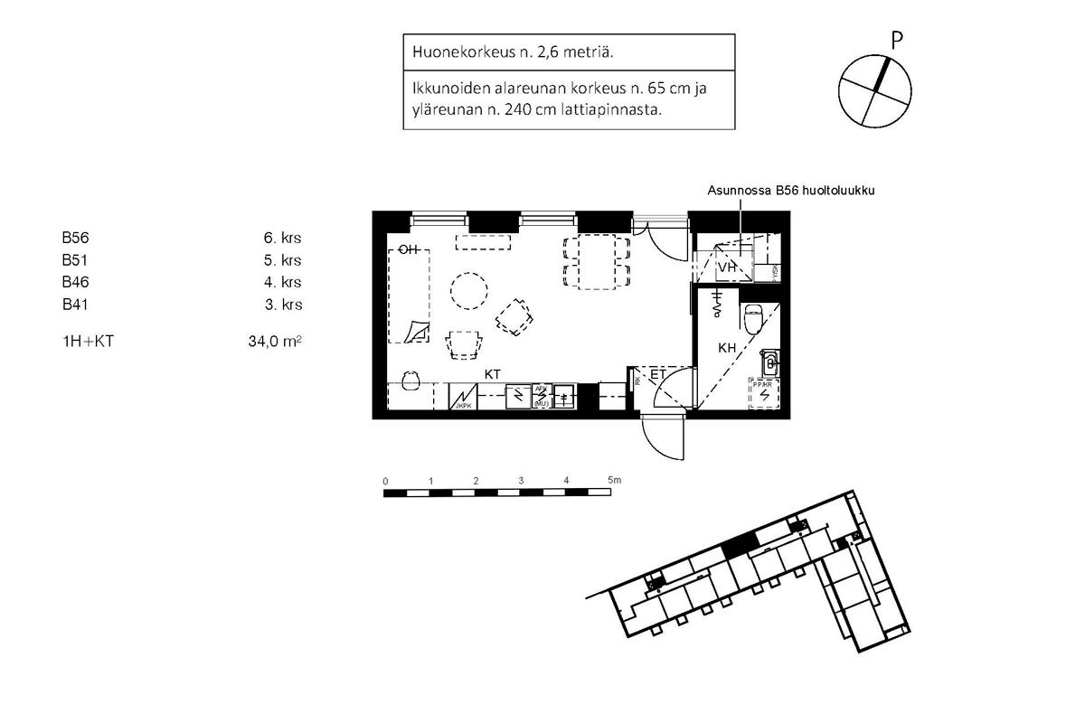 Asunto Oy Piispanportin Sointu, asunto B56 kuva 2 | myytävät asunnot Espoo