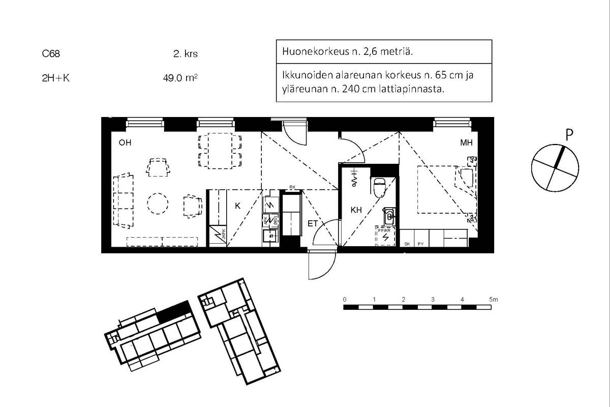 Asunto Oy Piispanportin Sointu, asunto C68 kuva 2   myytävät asunnot Espoo