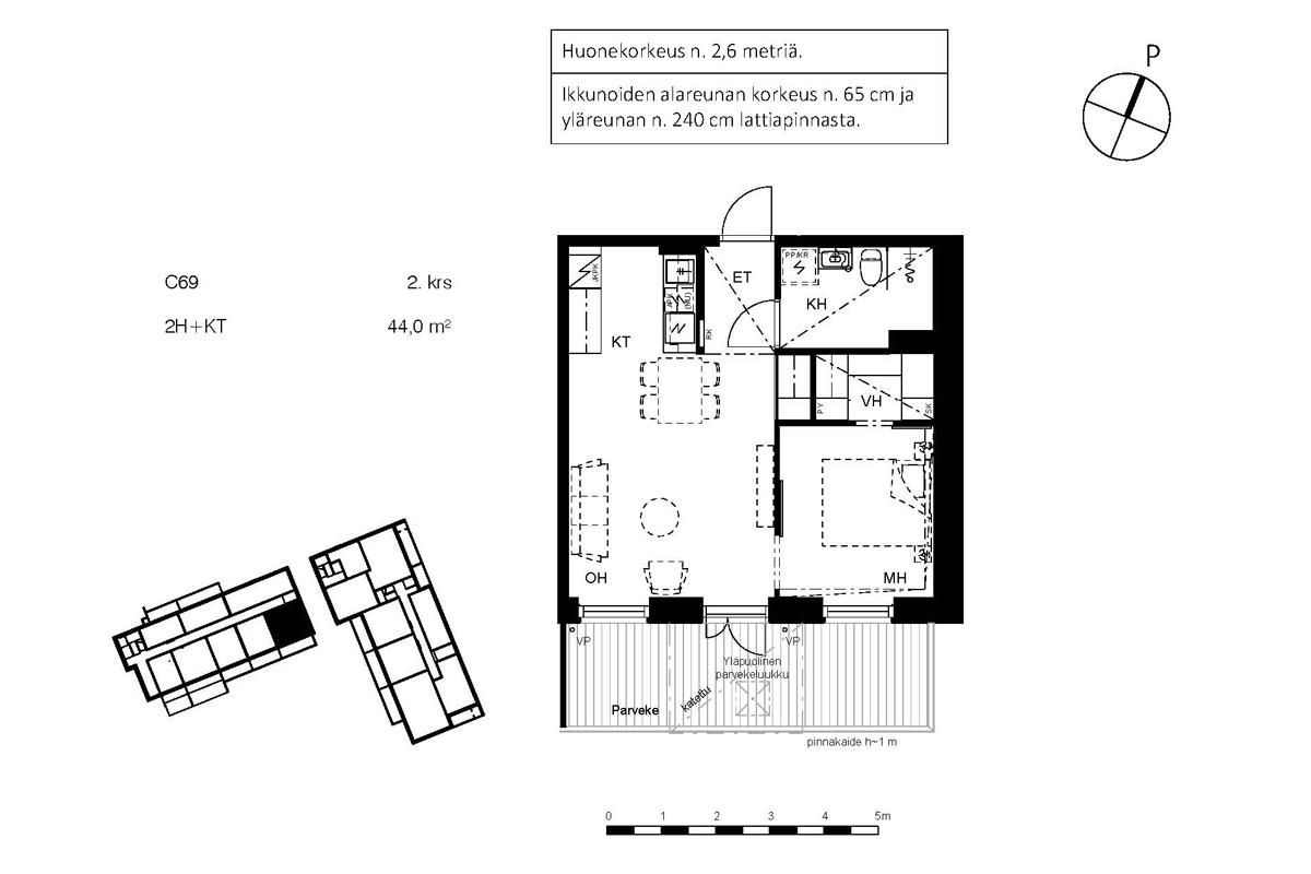 Asunto Oy Piispanportin Sointu, asunto C69 kuva 2   myytävät asunnot Espoo