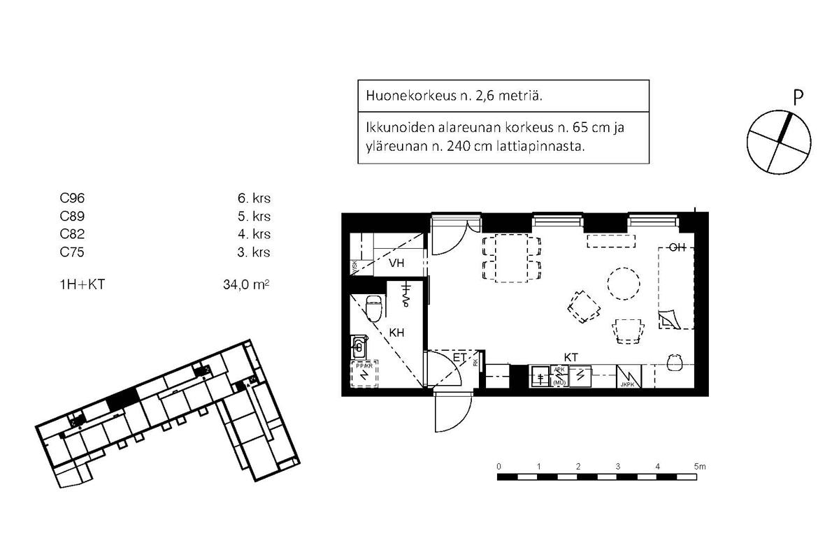 Asunto Oy Piispanportin Sointu, asunto C75 kuva 2 | myytävät asunnot Espoo