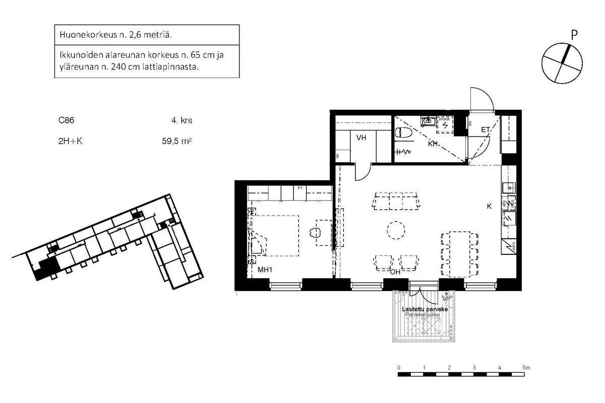 Asunto Oy Piispanportin Sointu, asunto C86 kuva 2 | myytävät asunnot Espoo