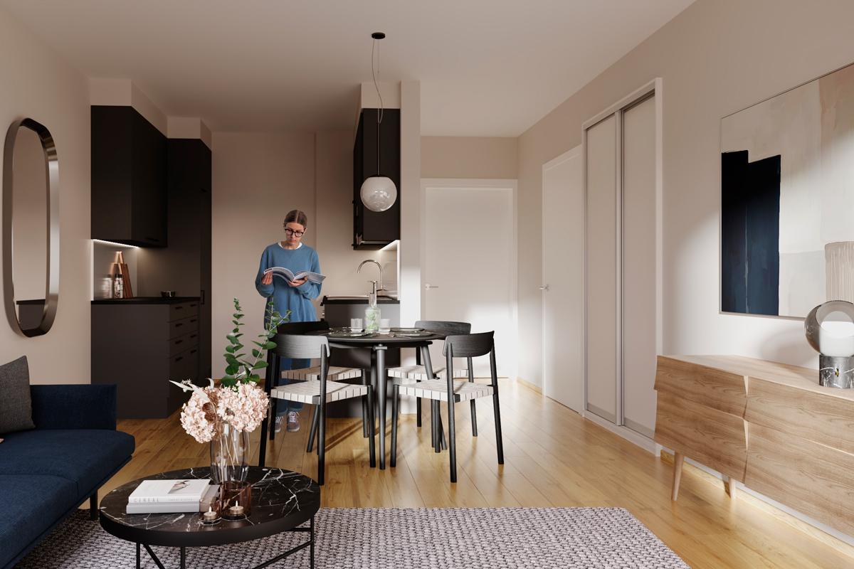 Asunto Oy Piispanportin Sointu, asunto B38 kuva 1 | myytävät asunnot Espoo