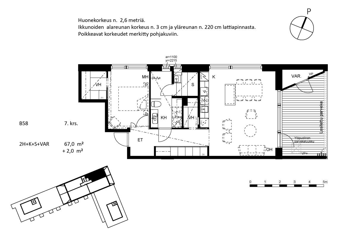 Asunto Oy Piispanportin Helmi, asunto B58 kuva 2   myytävät asunnot Espoo