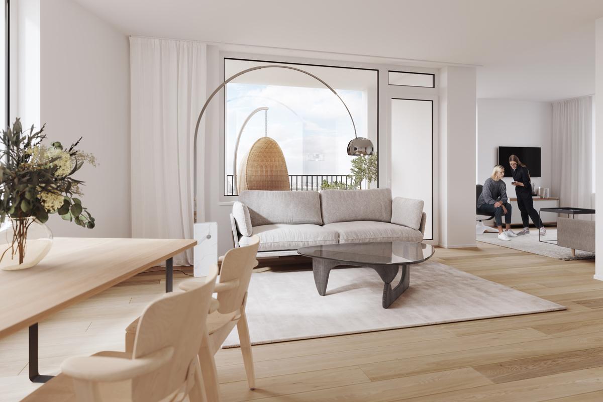 Asunto Oy Töölön Castellum, asunto B21 kuva 4   myytävät asunnot Helsinki