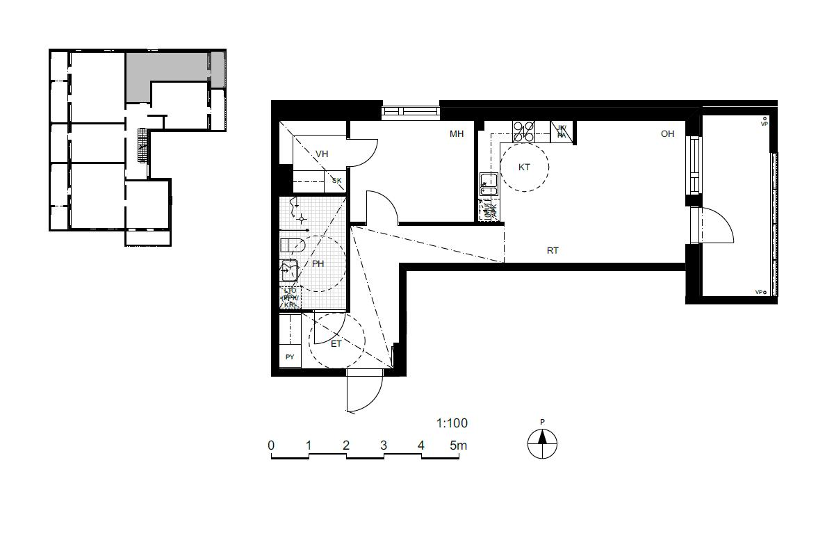 Asunto Oy Saunalahden Vinssi, asunto A20 kuva 2   myytävät asunnot Espoo
