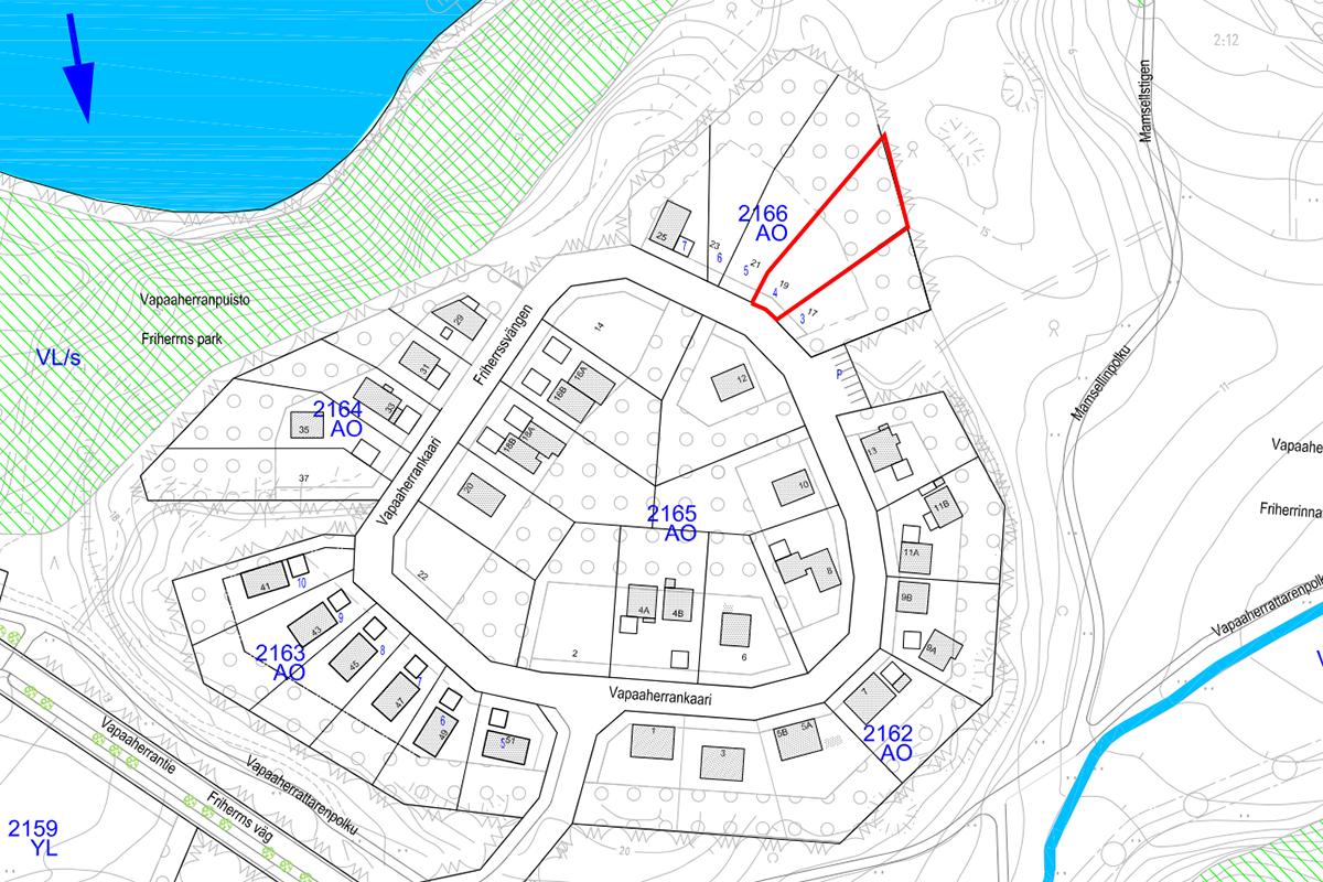OKT-tontti 2166-4 Vapaaherrankaari 19, asunto tontti 2166-4 kuva 2   myytävät asunnot Sundsberg